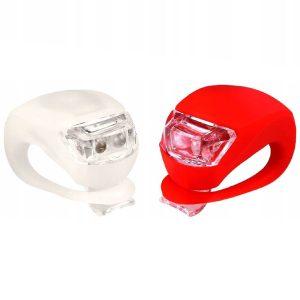 silikonowe lampki rowerowe