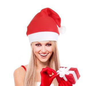 świąteczna czapka mikołaja