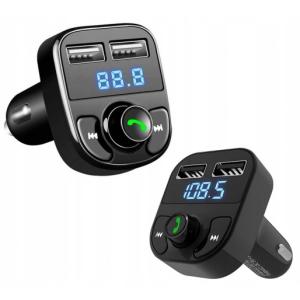 FM TRANSMITER MP3 BLUETOOTH ŁADOWARKA 2XUSB SD LCD