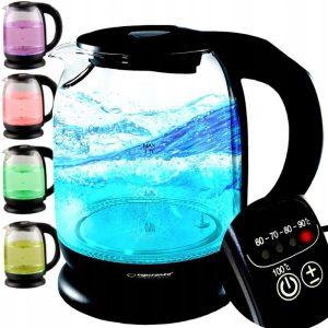 szklany czajnik regulacja temperatury