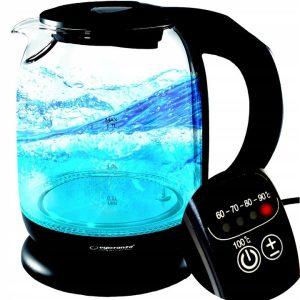 szklany czajnik elektryczny czarny