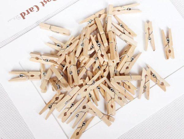 drewniane klamerki mini spinacze
