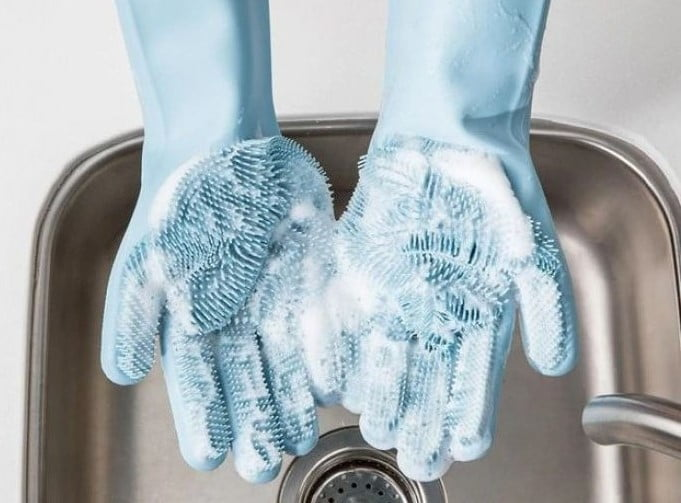 rękawice do mycia naczyń