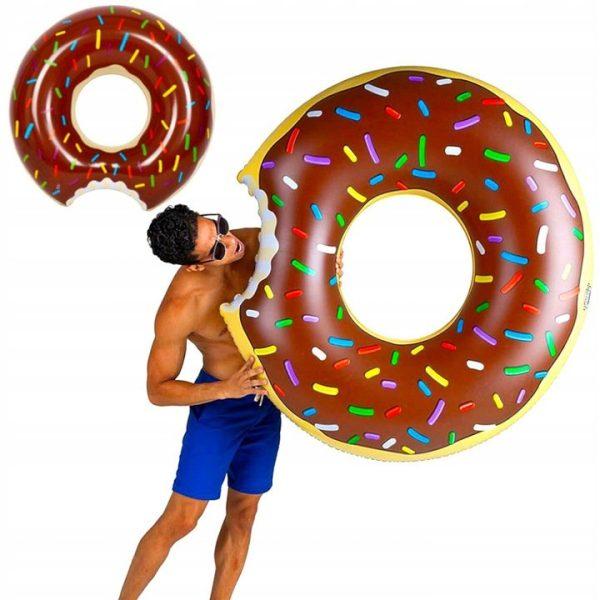 dmuchany materac donut koło do pływania