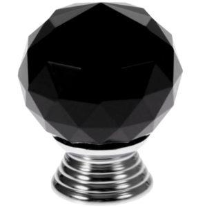 gałka kryształowa czarna