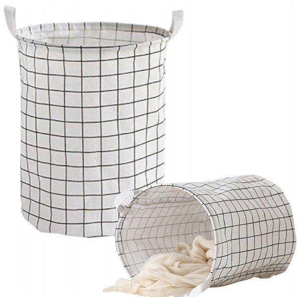 kosz na pranie materiałowy