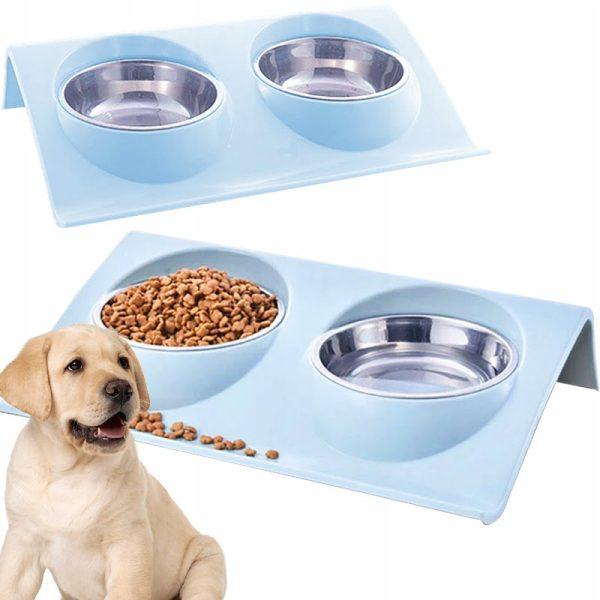 podwójna miska dla psa
