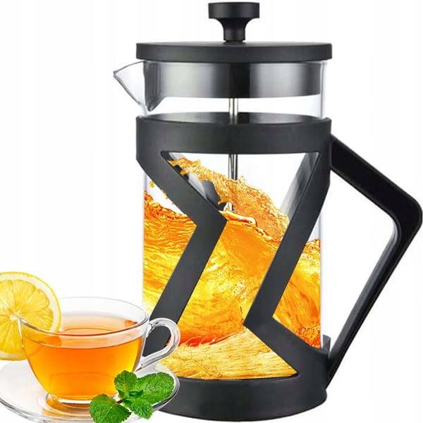 szklany dzbanek zaparzacz do kawy herbaty 1l litr
